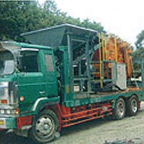 移動式コンクリート再生処理設備